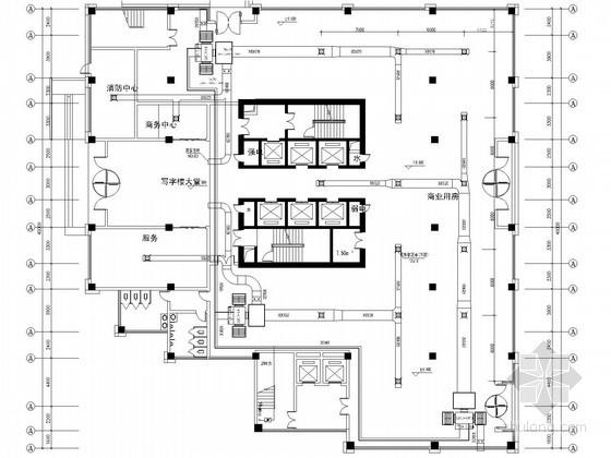 [江西]商场办公楼空调通风系统设计施工图(水环热泵系统)