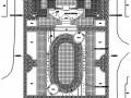 小区入口广场铺装平面图