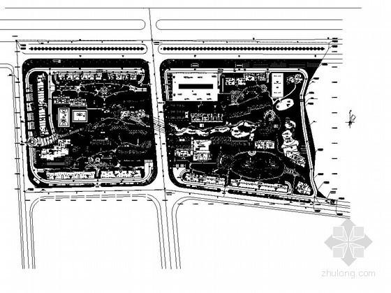 [长沙]居住区景观工程施工图