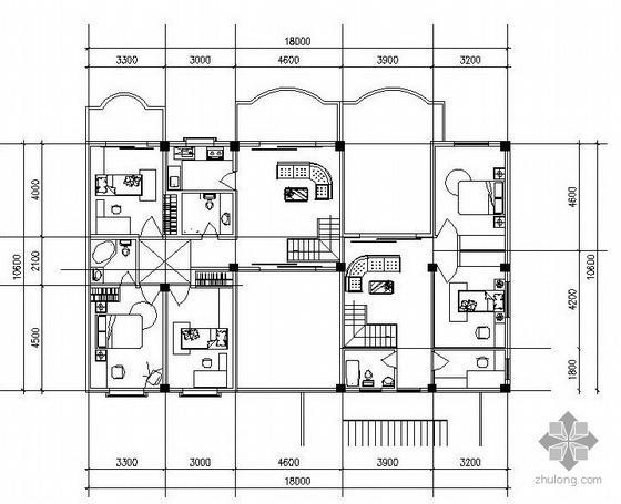三层双拼别墅有跃层B,E户型图(90/90)