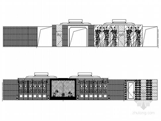 [内蒙古]首家四星级假日商务酒店CAD室内装修施工图(含效果)立面图