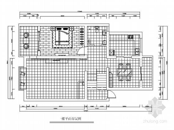 现代风格三居室装修施工图(含效果图)
