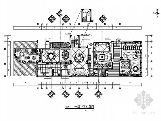 精品豪华气质四层欧式风格大别墅室内装修施工图