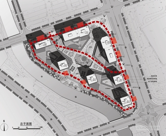 [浙江]现代风格电子商务信息港规划设计方案文本-现代风格电子商务信息港规划分析图