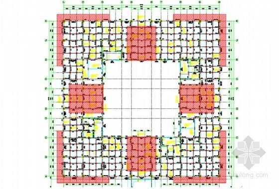 [山东]框架剪力墙结构大厦高支模工程施工方案(附图 附计算书)