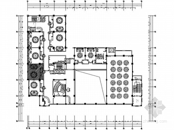 [惠州]多户型混搭酒店局部设计CAD施工图(含效果)
