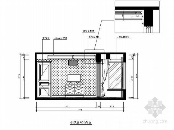 [温州]某简约四居室儿童房立面图
