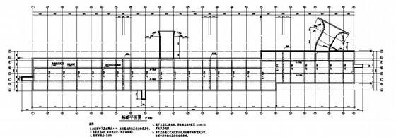 某汽车库结构设计图