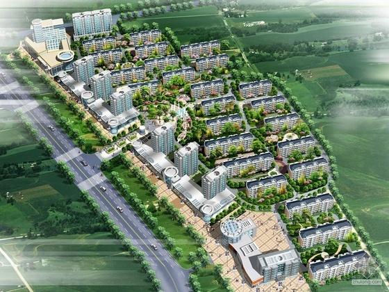 [潍坊市区南部]某生态花园住宅小区规划设计文本(带设计说明)