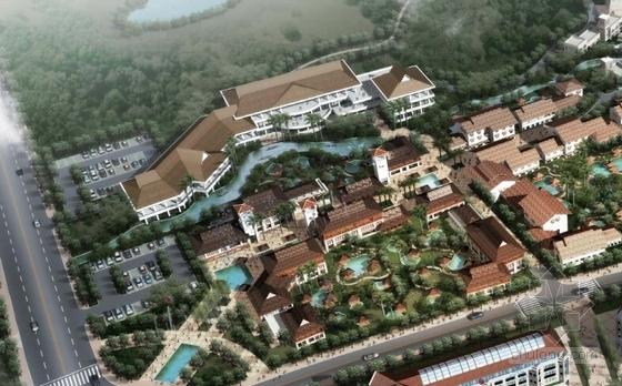 [江苏]国际级综合性旅游度假区景观规划方案-局部鸟瞰图