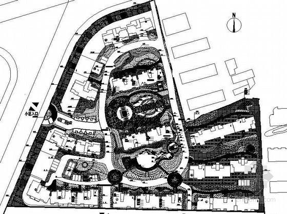 镇江住宅小区环境景观设计施工图全套