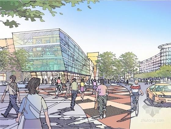 [上海]商业区规划及单体设计方案文本-透视图