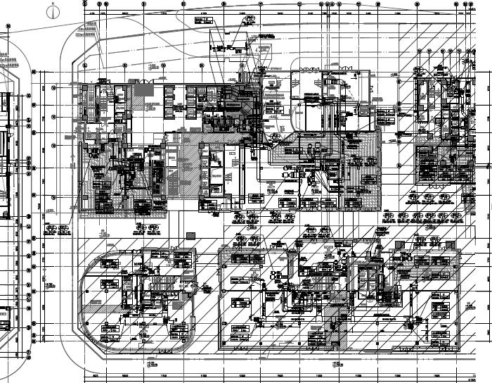 [广东]高层商业综合体暖通空调全系统设计施工图(机房设计)