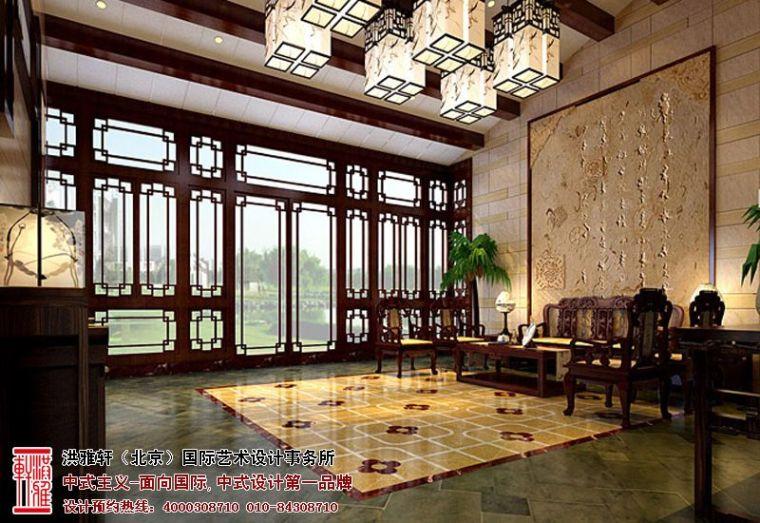 高贵大气的居住氛围泰兴四合院中式设计案例_4
