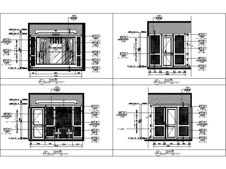[杭州]欧式两居样板间室内设计施工图(含效果图+实景图)_2