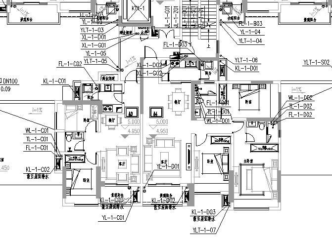 南京某公馆给排水施工图