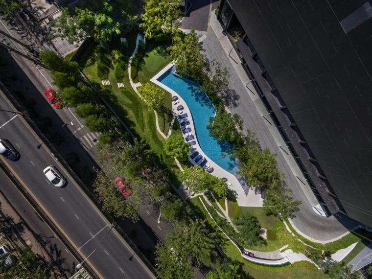 起伏的折线公寓庭院公寓景观