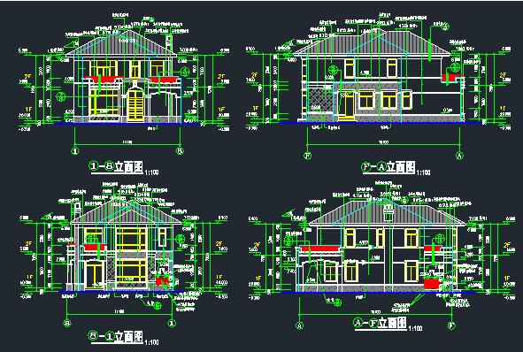 欧式别墅建筑结构施工图_1