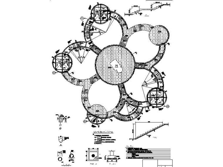 [浙江]山地公园景观设计施工图(2016年最新独家)-观景平台结构详图