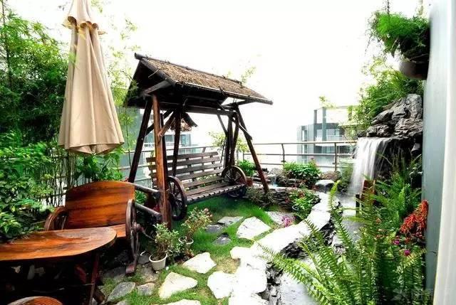 """""""中式花园""""的现代感!阳光、月光、花草相约在梦里的花园!"""