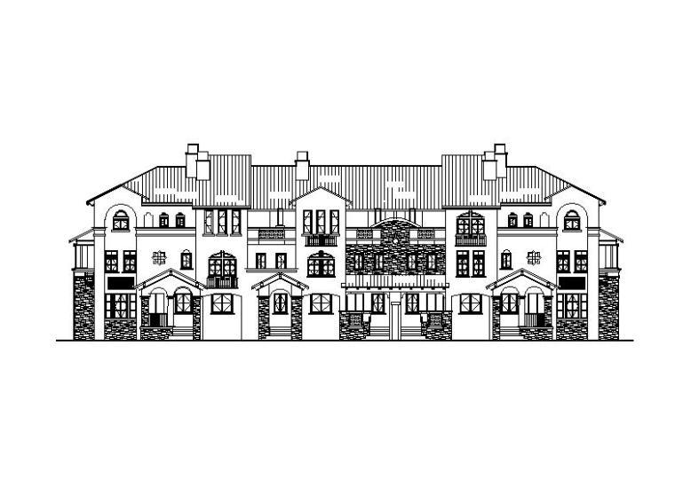 [南京]多层联排式住宅建筑立平面图(含六套方案)