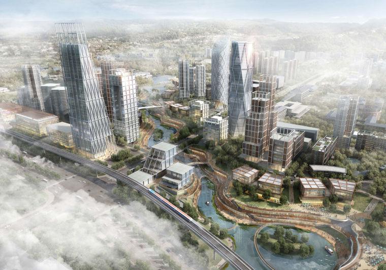 [重庆]大型商业综合体璧山滨水SOHO建筑设计方案文本