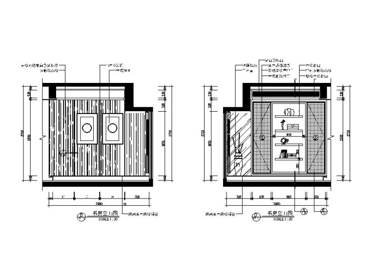 【广东】现代中式风格别墅设计CAD施工图(含效果图)_7