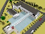 某水电厂办公楼SketchUp模型