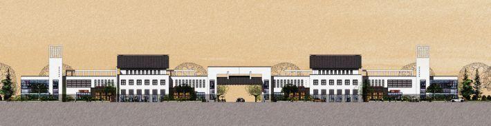 新中式商业街SU模型设计