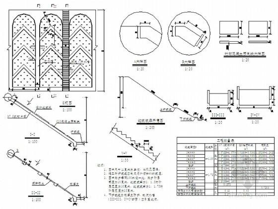 道路路堤边坡拱型骨架防护设计图