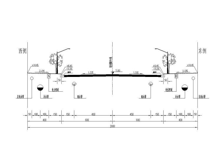 [云南]城市市政道路施工图设计20张