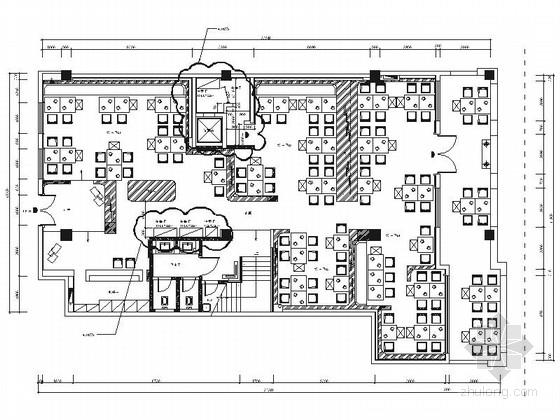 [武汉]商业步行街内创意现代火锅店施工图