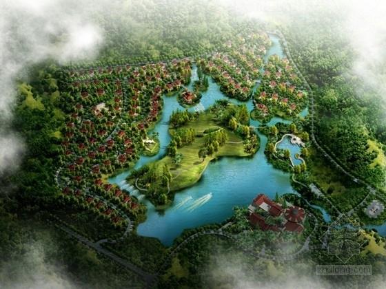 [福建]欧式高档别墅区规划及别墅单体设计方案文本