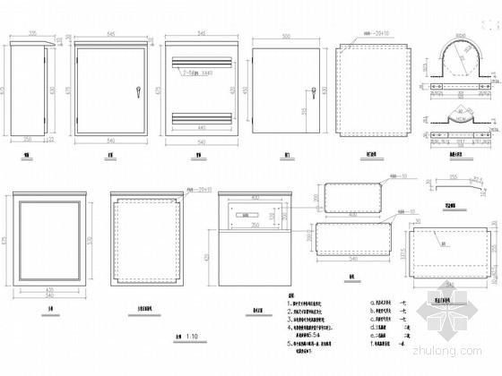 [湖南]30米宽四车道市政道路图纸全套173张附计算书(排水绿化照明交安空心板桥)-附着式电视监控柜