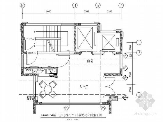 [浙江]高端住宅小区现代风格电梯厅室内装修施工图
