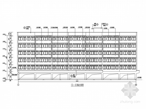 六层底框结构房管局员工宿舍建筑结构施工图