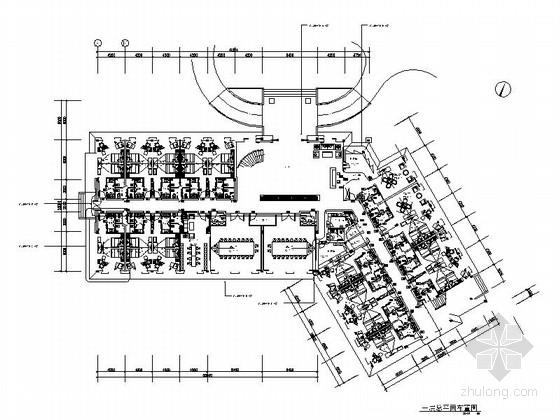 [东莞]知名五星级酒店典雅高档指挥楼室内CAD装修施工图(含效果)