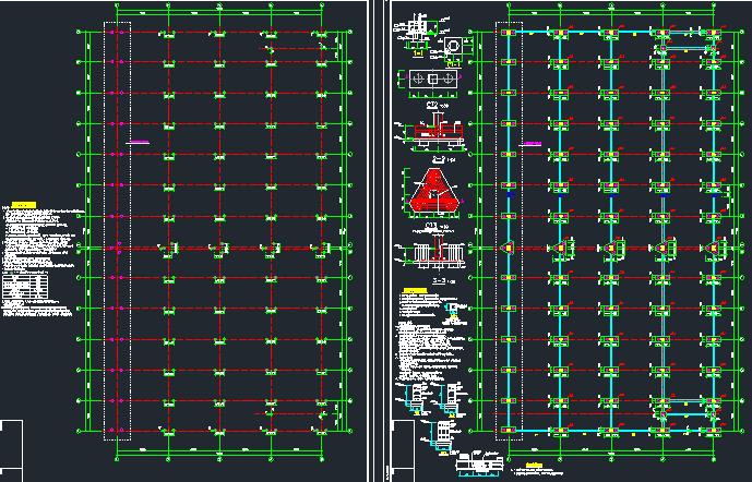 钢结构框架厂房施工图纸(含建筑结构、给排水)_2