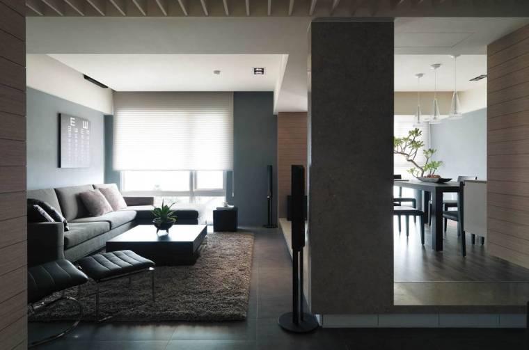 成都120平黑白灰经典装修设计 演绎精彩生活