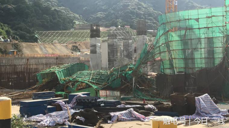 深圳地铁8号线在建工地坍塌,工人从10多米高钢筋笼上跌落