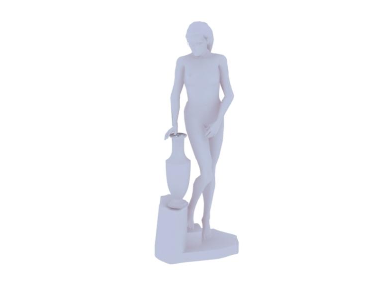 欧式人体雕塑3D模型下载