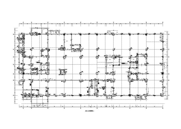 [沧州]10层框剪结构医院康复楼全套施工图(建筑结构水暖电)