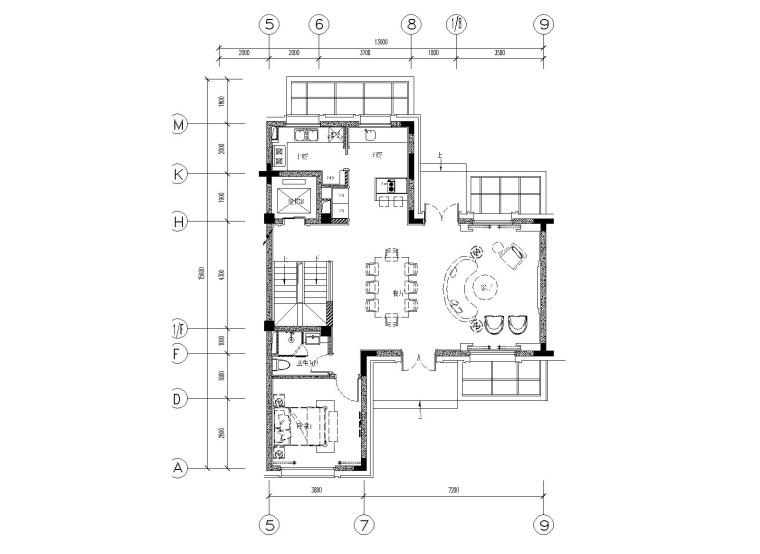 [上海]集艾设计-上海绿地海珀风华523㎡T型别墅样板间全套施工图+官方摄影