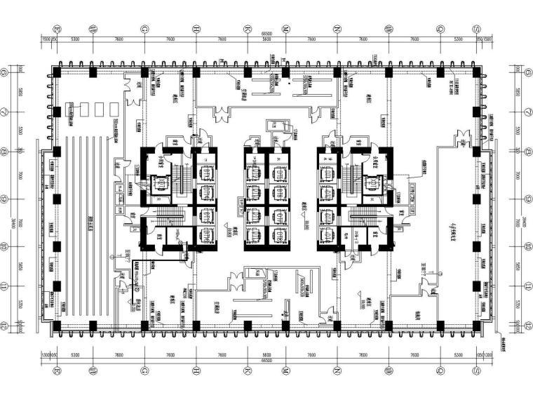 [海南]23万平大型超高层甲级办公商业全套弱电图纸(含弱电机房)