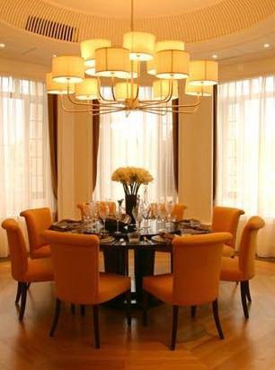 高尔夫球会别墅A型室内装修施工图(含效果图)-用餐处效果图