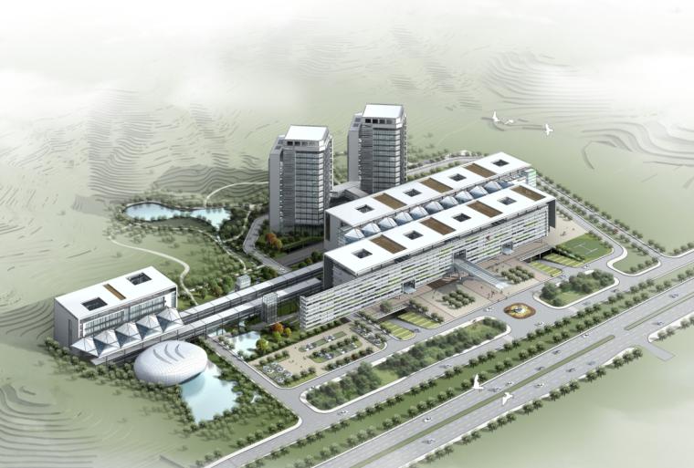 [深圳]高層現代簡潔流動感綜合性醫院建筑設計方案文本