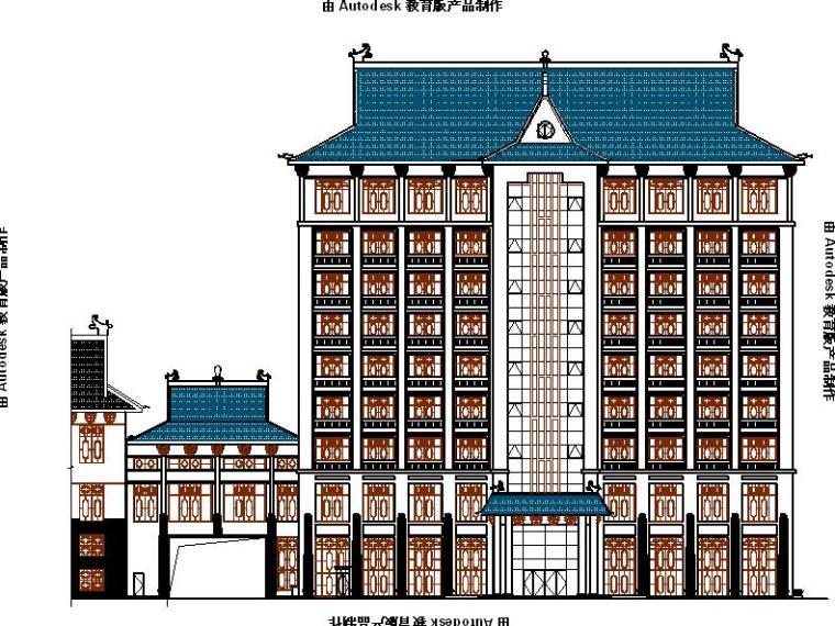 [宁夏]9层中式风格博物馆综合楼建筑施工图(含效果图)