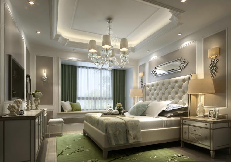 [杭州]欧式售楼处样板房住宅空间设计施工图(含效果图+实景图)_8