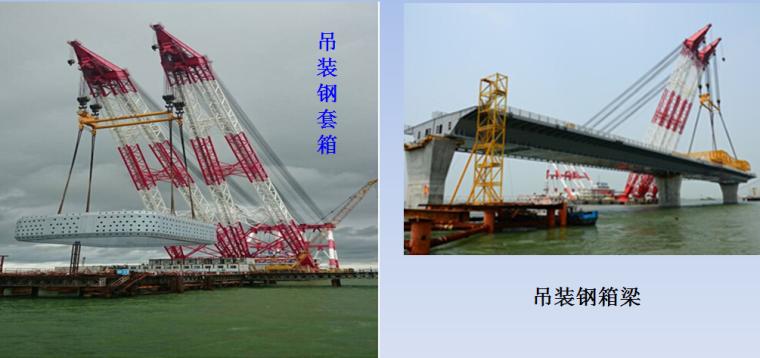 港珠澳大桥外海三塔斜拉桥施工创新工艺及关键技术-起重船起重作业