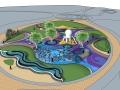 儿童活动场地景观su模型(儿童海洋主题乐园)